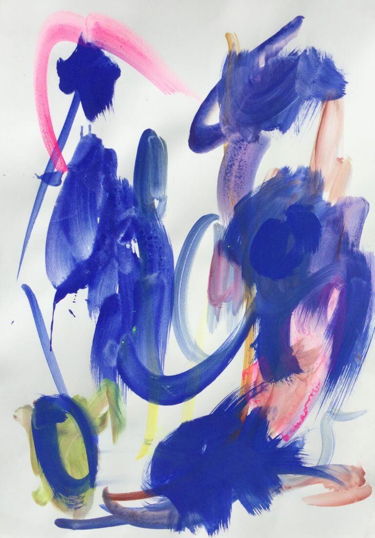 2018 Acrylique et pigments sur papier, 50x70 cm