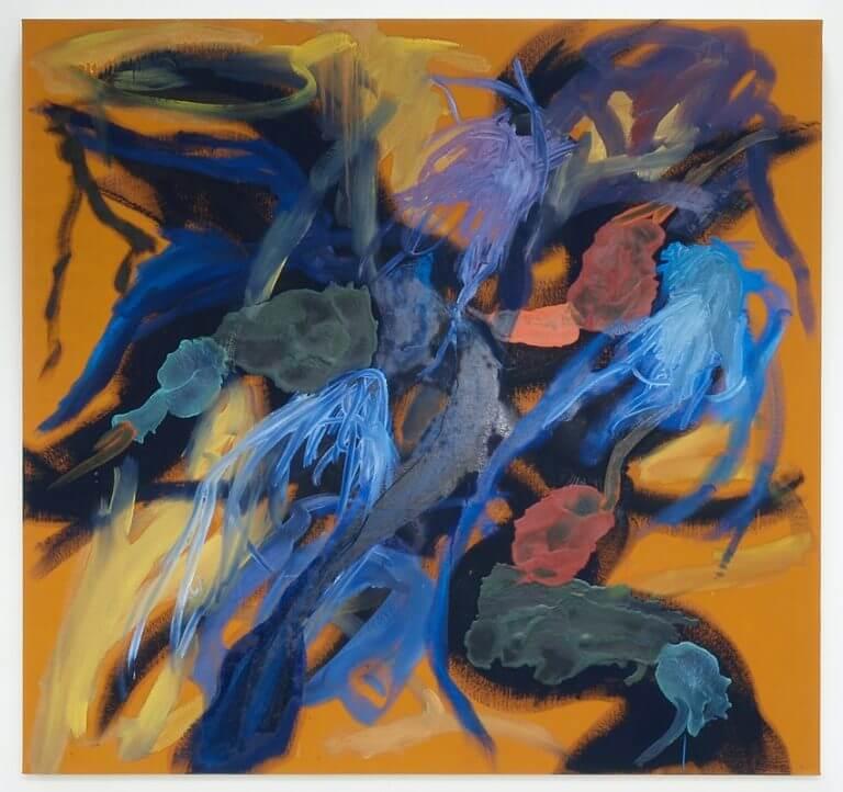 Sans titre, 2016 Peinture à l'huile et à l'encaustique sur toile marouflée sur bois, 129x122 cm
