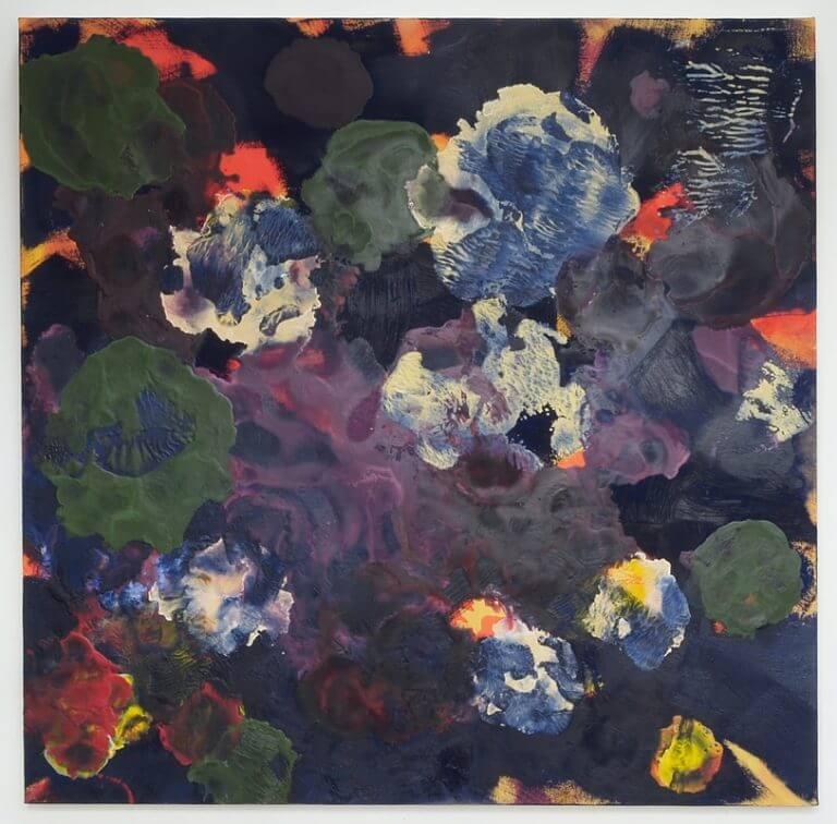 Fantôme, extrait de la série Apnée, 2015 Peinture à l'huile et à l'encaustique sur toile marouflée sur bois, 122x121 cm
