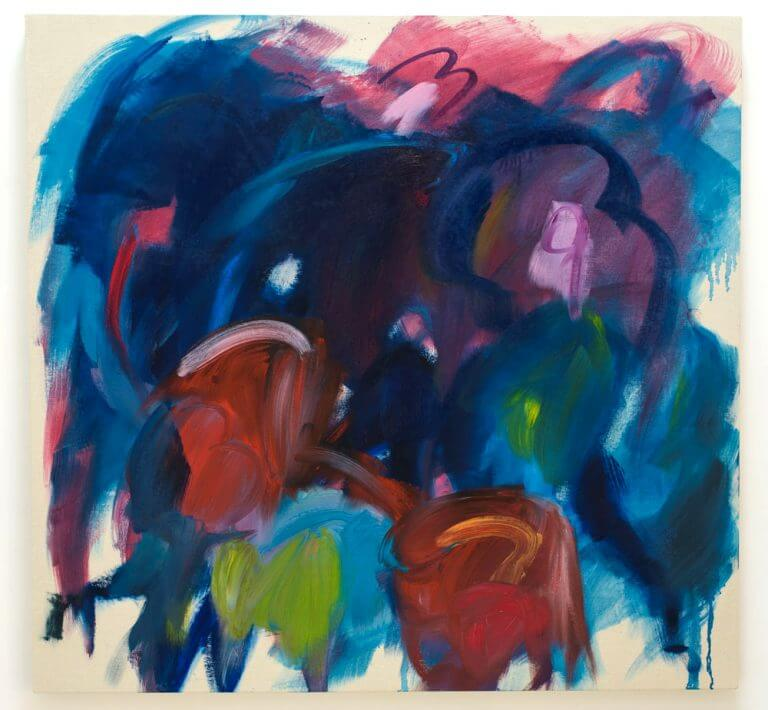 Puck #2,  2017 Peinture à l'huile et à l'encaustique sur toile marouflée sur bois, 129x122 cm