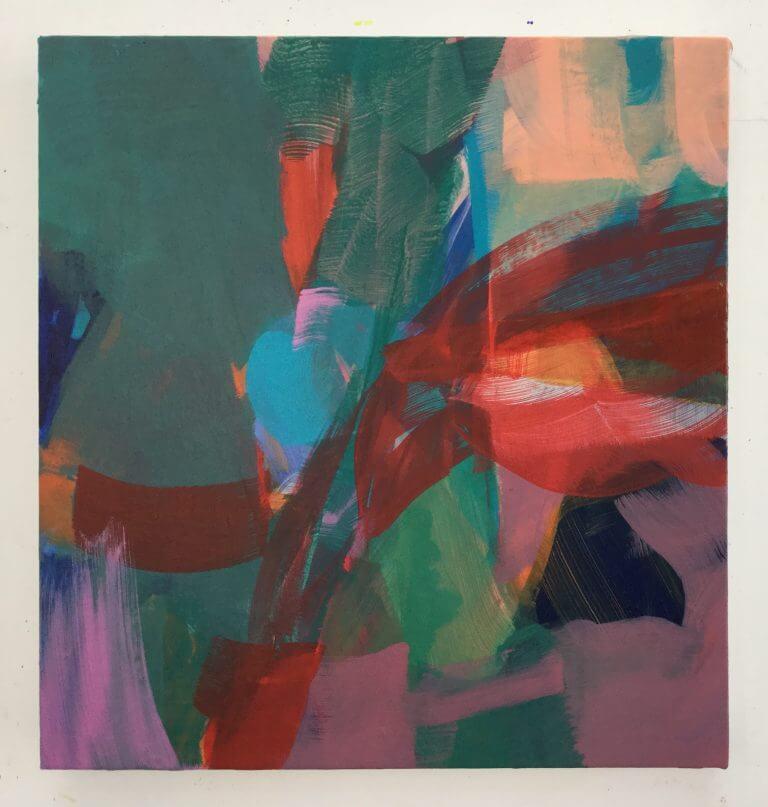 Chat Botté, 2020 Peinture à l'acrylique et pigments sur toile, 41x38 cm
