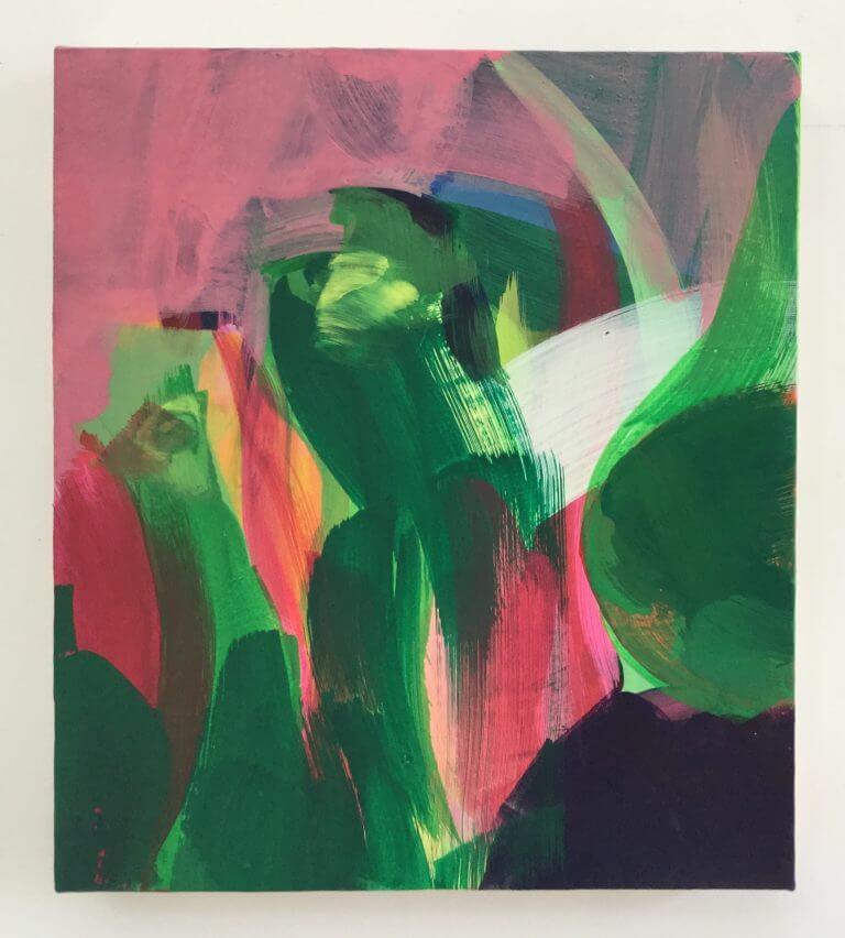 Les Lulus, 2020 Peinture acrylique et pigments sur toile, 35x31 cm