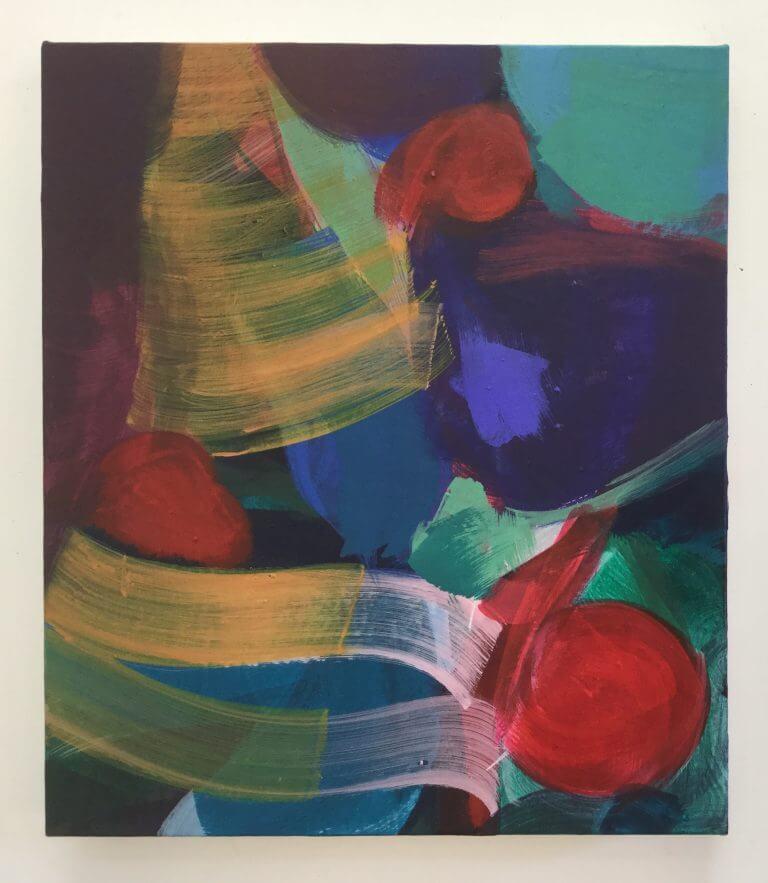 Ballade, 2020 Peinture acrylique et pigments sur toile, 41x35 cm