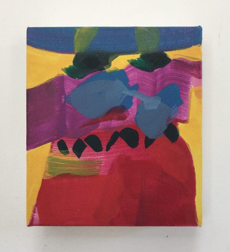 Monsieur William, 2020 Peinture à l'acrylique sur toile, 17x15 cm