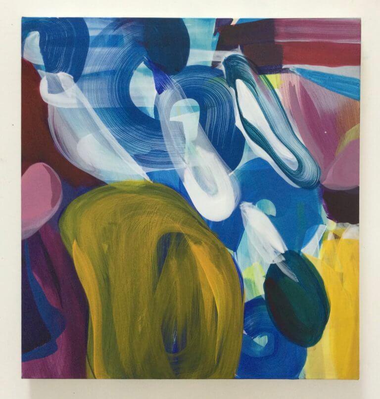Vortex, 2021 Peinture à l'acrylique et pigments sur toile, 65x61 cm