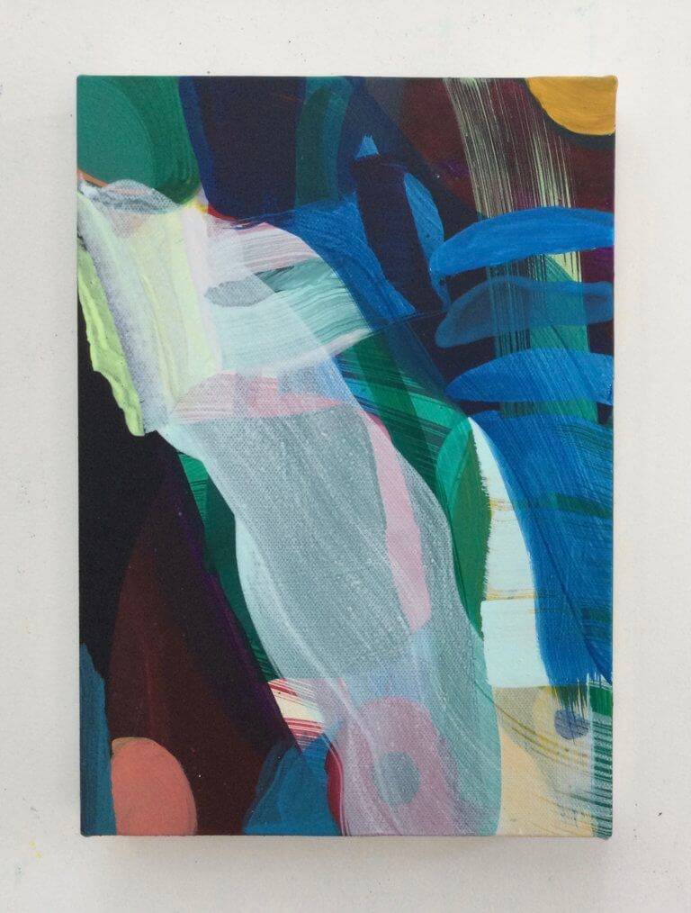 Savane, 2021 Peinture à l'acrylique et pigments sur toile, 29x21 cm
