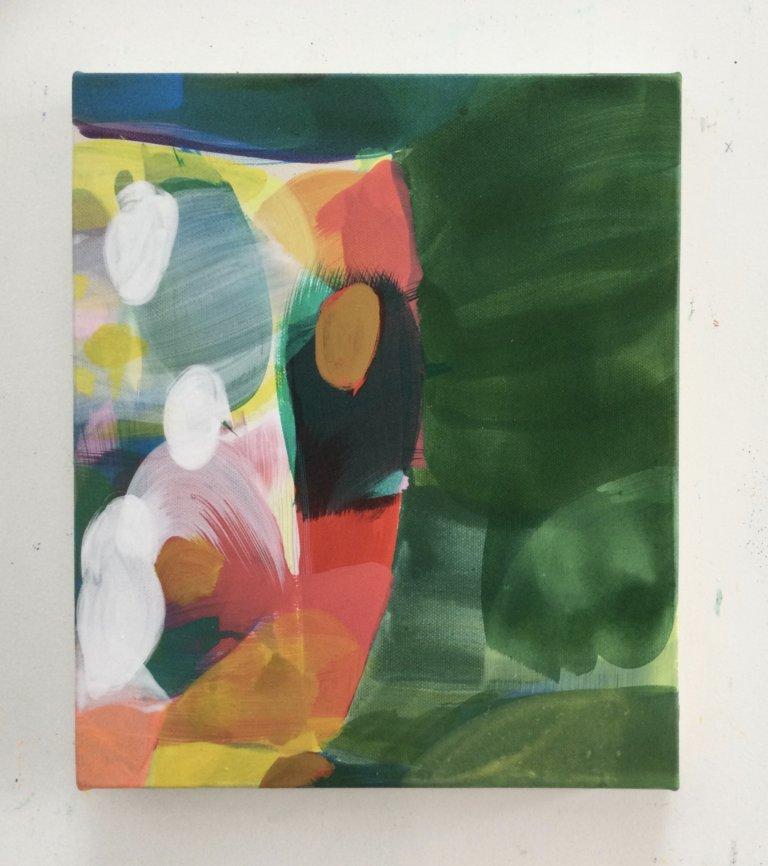 Sans titre, 2021 Peinture à l'acrylique et pigments sur toile,