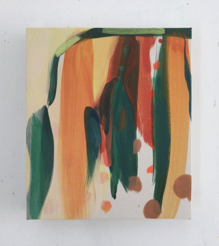 Les Impromptus, 2021 Peinture acrylique et pigments sur toile, 24x21 cm