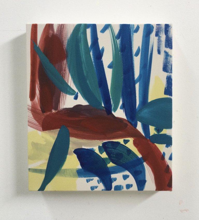Étoile de mer, 2021 Peinture à l'acrylique et pigments sur toile,